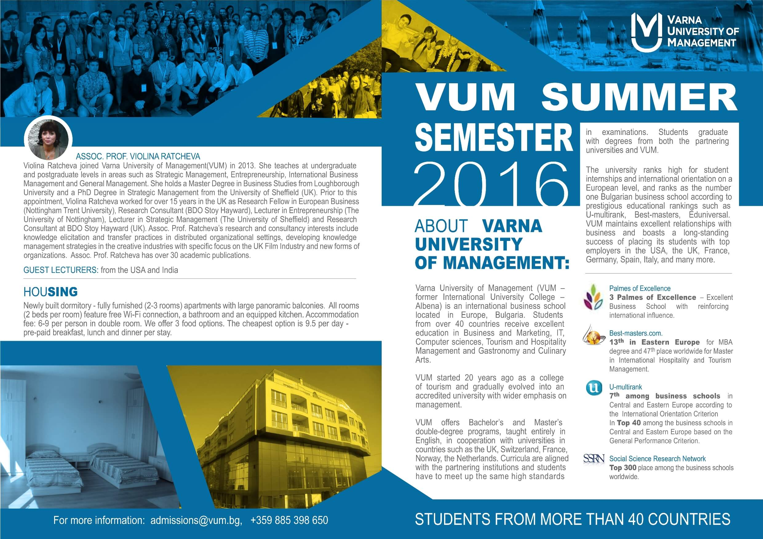 VUM Summer Semester_1